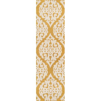Northwood Hand-Tufted Gold Area Rug Rug Size: Runner 23 x 8