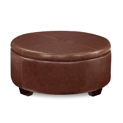 Eunice Storage Ottoman Upholstery: Medium Brown