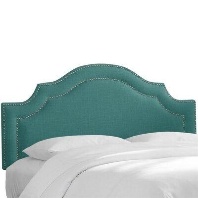 Fleischmann Arch Upholstered Panel Headboard Size: Twin, Upholstery: Laguna