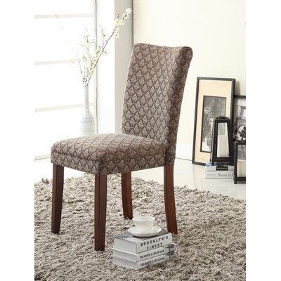 Tenbury Classic Upholstered Parsons Chair Upholstery: Blue Chocolate