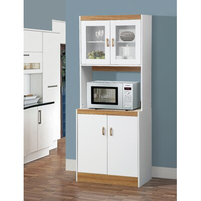 Aaronsburg Microwave Cart Base Finish: White