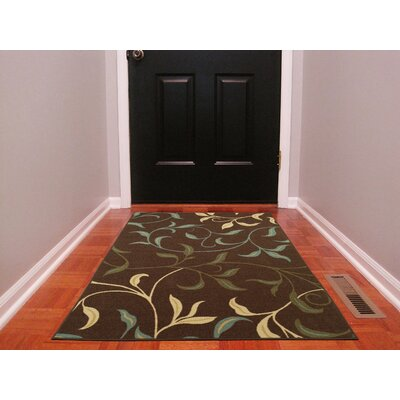 Galesburg Chocolate/Brown Area Rug Rug Size: 5 x 66