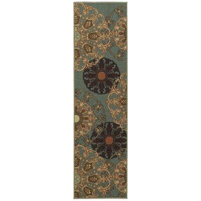 Galesburg Oriental Design Blue Area Rug Rug Size: Runner 18 x 411