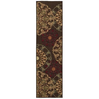 Galesburg Chocolate Area Rug Rug Size: Runner 110 x 7