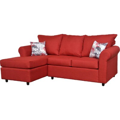 Dewitt Sectional Upholstery: Oscar Red & Grafitti Red