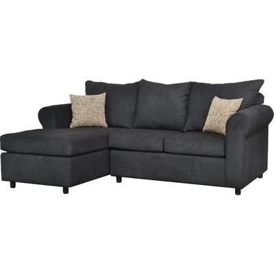 Dewitt Sectional Upholstery: Due Black / Zoo Taupe