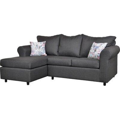 Dewitt Sectional Upholstery: Oscar Gunmetal & Esparanza Garnet
