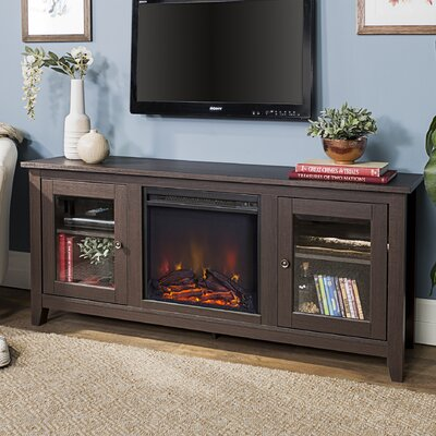 Inglenook 58 TV Stand with Fireplace Finish: Traditional Brown