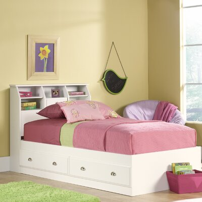 Revere Storage Platform Bed Color: Soft White, Size: Twin