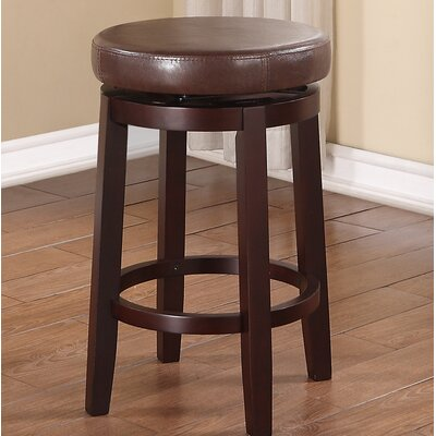 Colesberry 24 Swivel Bar Stool Upholstery: Brown