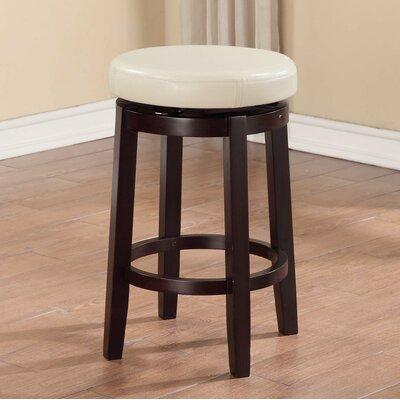 Colesberry 24 Swivel Bar Stool Upholstery: Rice