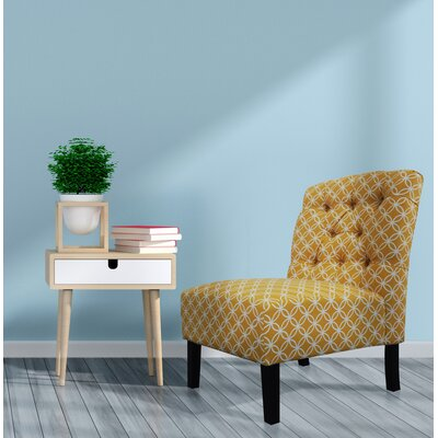 Goldenberg Parsons Chair Upholstery: Butter Rum