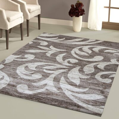 Nader Taupe/Cream Area Rug Rug Size: 5 x 7