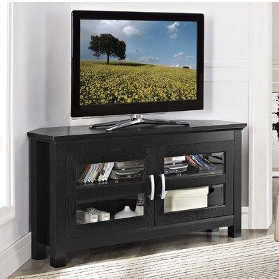 Dunmore 44 Wood Corner TV Stand Color: Black