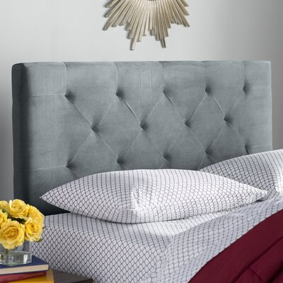 Brennan Upholstered Panel Headboard Size: Full/Queen, Upholstery: Dove Gray
