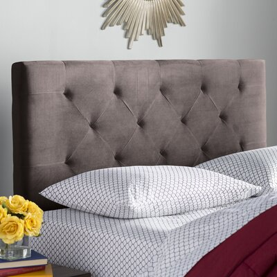 Brennan Upholstered Panel Headboard Size: King/California King, Upholstery: Chocolate