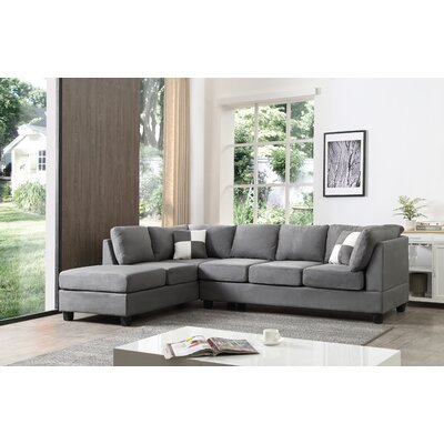 Childress Sectional Upholstery: Suede Gray