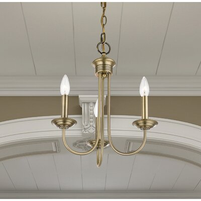 Lakemoor 3-Light Candle-Style Chandelier Finish: Antique Brass