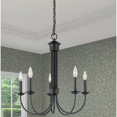 Lakemoor 5-Light Candle-Style Chandelier Finish: Bronze