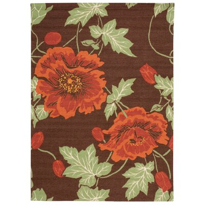 Beatrice Chocolate Area Rug Rug Size: Rectangle 5 x 7