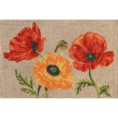 Haverstraw Hand-Tufted Yellow/Red Indoor/Outdoor Area Rug Rug Size: 2 x 3