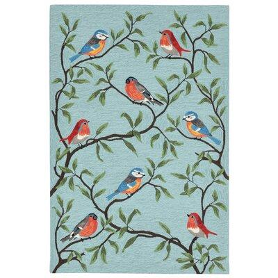 Haverstraw Hand-Tufted Blue Indoor/Outdoor Area Rug Rug Size: 5 x 76