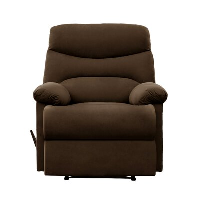 Millicent Chaise Manual Wall Hugger Recliner Upholstery: Brown