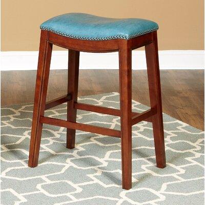 Trinningham 24 Bar Stool Upholstery: Sky Blue