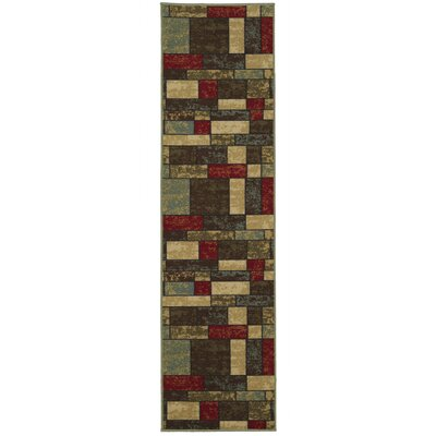 Galesburg Brown/Red Area Rug Rug Size: Runner 110 W x 7 L