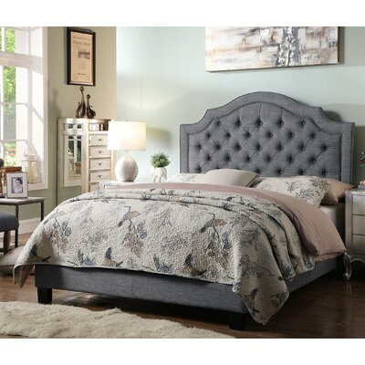 Julia Upholstered Panel Bed Size: Queen, Color: Gray