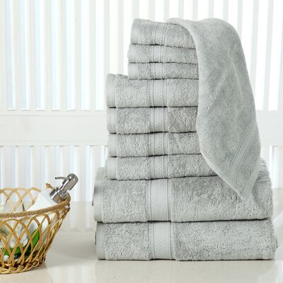 10 Piece Towel Set Color: Jade