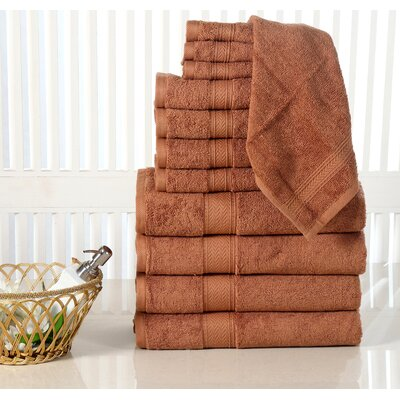 10 Piece Towel Set Color: Mocha