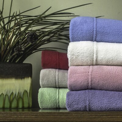 Wellesley Micro Fleece Sheet Set Size: California King, Color: Eggplant