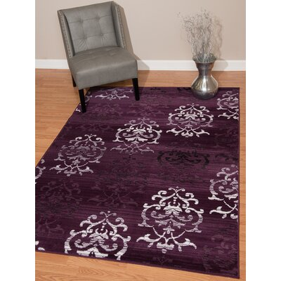 Fitchett Lilac/Plum Area Rug Rug Size: 111 x 33