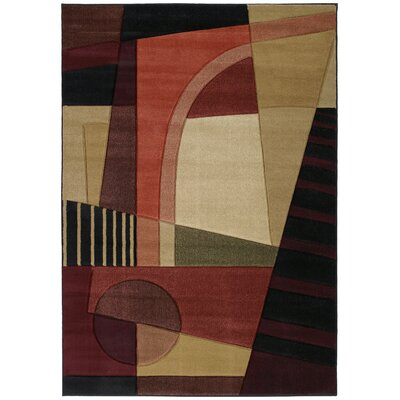 Ganley Urban Angles Red Rug Rug Size: Rectangle 53 x 76