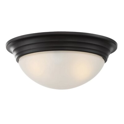Bethalto 2-Light Flush Mount Finish: English Bronze, Size: 4.5 H x 11 W