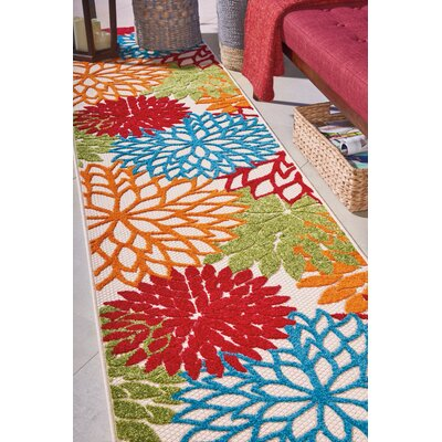 Goldhorn Red Indoor/Outdoor Area Rug Rug Size: Runner 23 x 10
