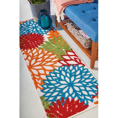 Goldhorn Red Indoor/Outdoor Area Rug Rug Size: Runner 2 x 6