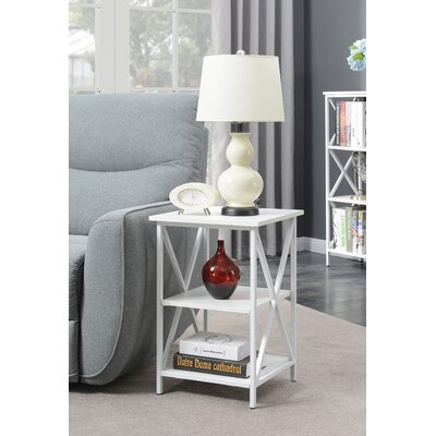 Abbottsmoor End Table With Storage Color: White