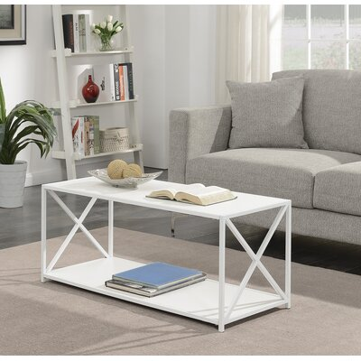 Abbottsmoor Coffee Table Wood Color: White