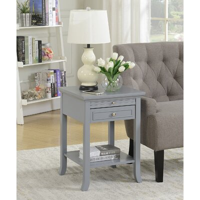 End Table With Storage Color: Gray