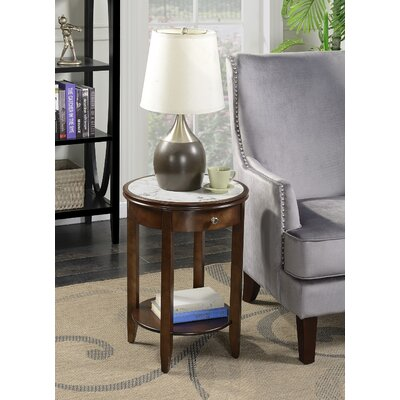 Haines End Table with Storage Finish: Espresso