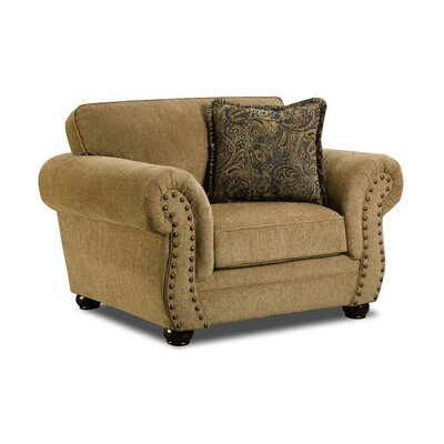Channahon Simmons Stuart Armchair Upholstery: Antique