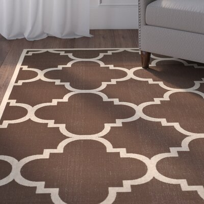 Short Dark Brown Outdoor Area Rug Rug Size: Rectangle 4 x 57