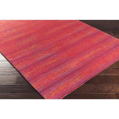 Wilton Hand-Hooked Cherry Indoor/Outdoor Area Rug Rug Size: 2 x 3