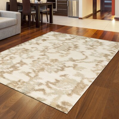 Delshire Bone Area Rug Rug Size: Rectangle 53 x 73