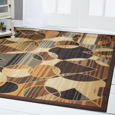 Derrymore Brown Area Rug Rug Size: Rectangle 37 x 52