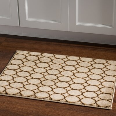 Alica Multi Circles Cream Area Rug Rug Size: Rectangle 2 x 3
