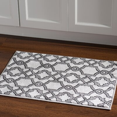 Alica Geo Light Gray Area Rug Rug Size: Rectangle 2 x 3