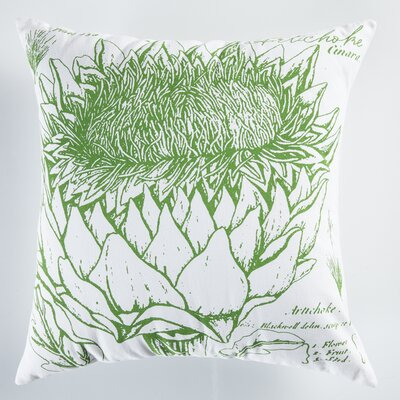 Uruli Artichoke Cotton Throw Pillow